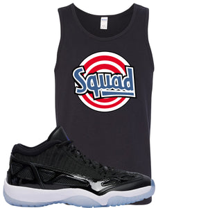 Air Jordan 11 Low IE Space Jam Sneaker Hook Up Squad Black Mens Tank Top