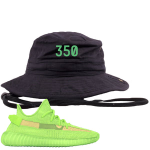 "Yeezy Boost 350 V2 Glow Sneaker Hook Up ""350"" Black Bucket Hat"