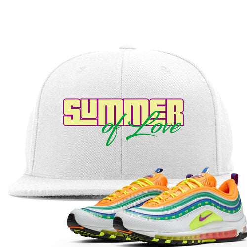 "Air Max 97 Summer of Love Sneaker Match ""Summer of Love"" White Snapback"