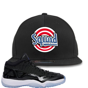Air Jordan 11 Low IE Space Jam Sneaker Hook Up Squad Black Snapback
