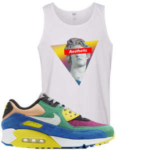 Nike Air Max 90 Viotech 2.0 Sneaker Hook Up Aesthetic White Mens Tank Top