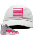 Air Jordan 12 GS Grey Pink Sneaker Hook Up 23 White Dad Hat