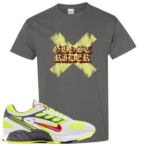Nike Air Ghost Racer Neon Yellow Sneaker Match Ghost X Rider Charcoal T-Shirt