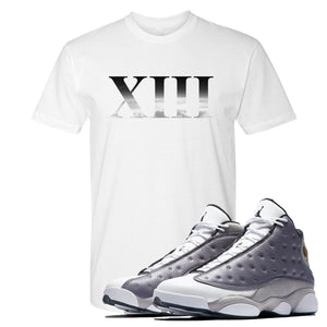 Jordan 13 Atmosphere Grey XIII White Shirt
