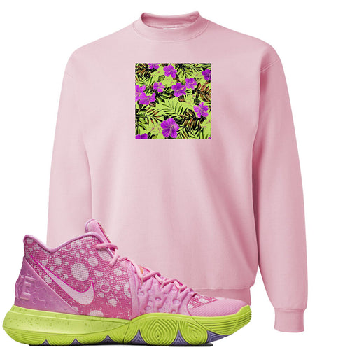 Spongebob Squarepants x Nike Kyrie 5 Patrick Star Sneaker Match Hawaiian Pattern Light Pink Sweater