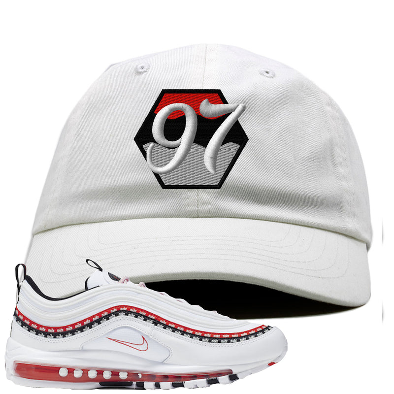 Nike Air Max 97 White University Red Sneaker Hook Up 97 white Dad Hat