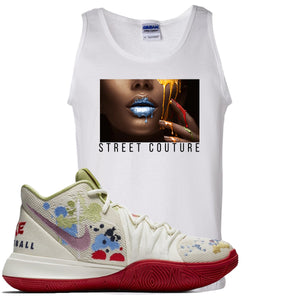 Bandulu x Nike Kyrie 5 Sneaker Hook Up Street Couture White Mens Tank Top