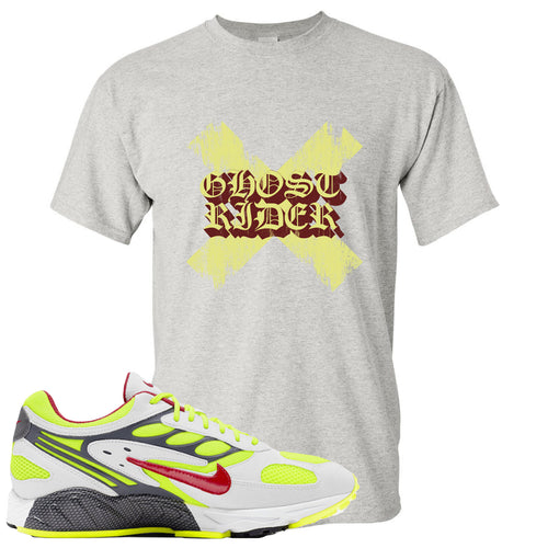 Nike Air Ghost Racer Neon Yellow Sneaker Match Ghost X Rider Sport Grey T-Shirt