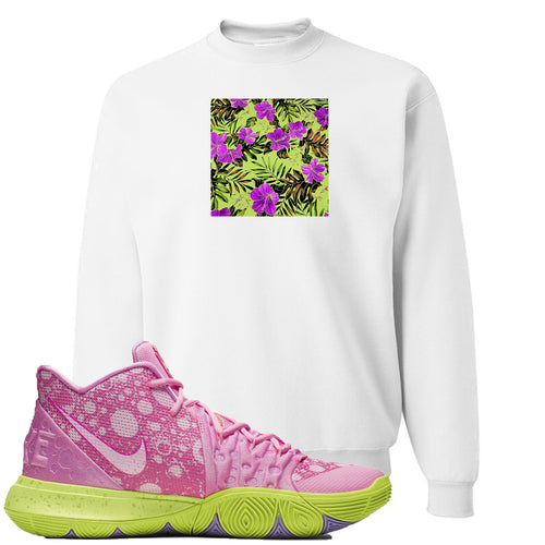 Spongebob Squarepants x Nike Kyrie 5 Patrick Star Sneaker Match Hawaiian Pattern White Sweater