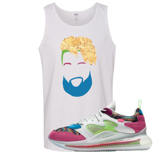 OBJ x Nike Air Max 720 Sneaker Hook Up OBJ Head White Mens Tank Top