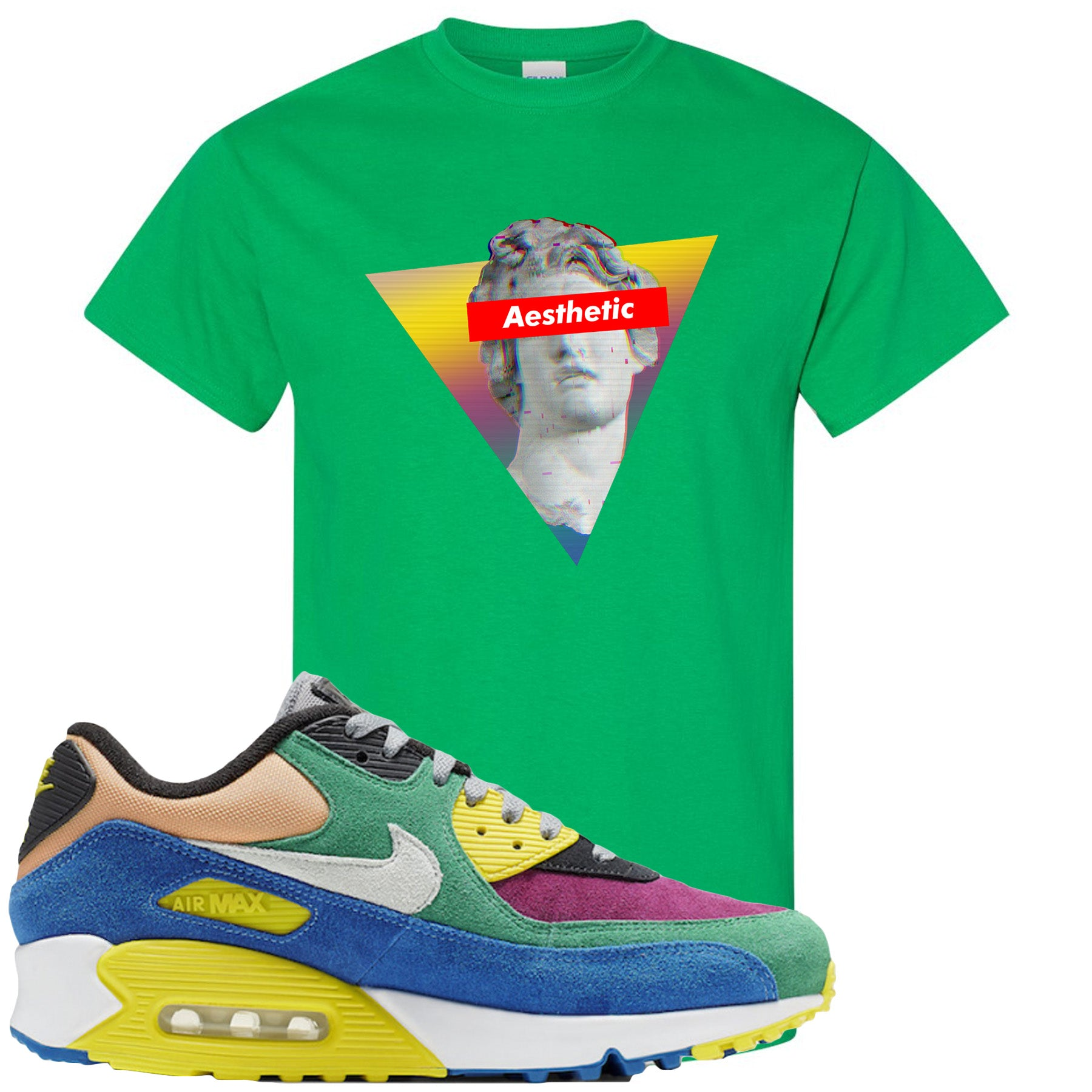 new arrival 55c25 1715a Nike Air Max 90 Viotech 2.0 Sneaker Match Aesthetic Kelly Green T-Shirt