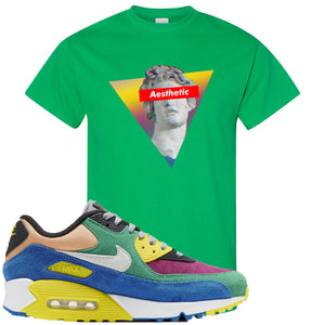 Nike Air Max 90 Viotech 2.0 Sneaker Hook Up Aesthetic Kelly Green T-Shirt