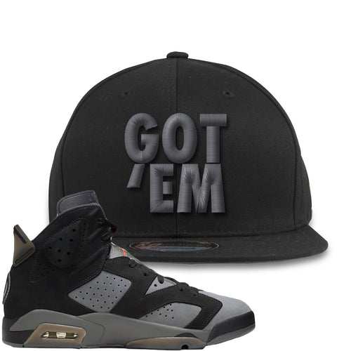 Air Jordan 6 PSG Sneaker Match Got Em Black Snapback