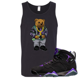Air Jordan 7 Ray Allen Sneaker Hook Up Sweater Bear Black Mens Tank Top