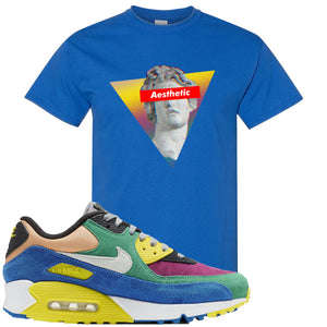 Nike Air Max 90 Viotech 2.0 Sneaker Hook Up Aesthetic Royal Blue T-Shirt