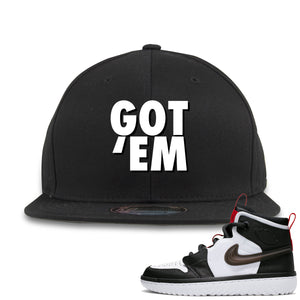 Air Jordan 1 High React White Black Sneaker Hook Up Got Em Black Snapback