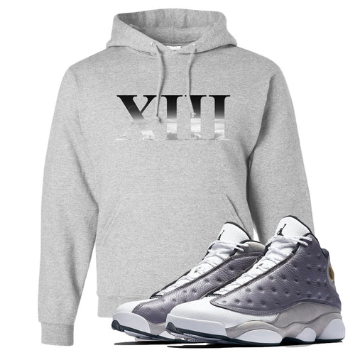 Jordan 13 Atmosphere Grey XIII Light Gray Hoodie