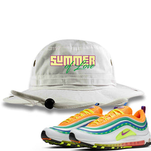 "Air Max 97 Summer of Love Sneaker Hook Up ""Summer of Love"" White Bucket Hat"