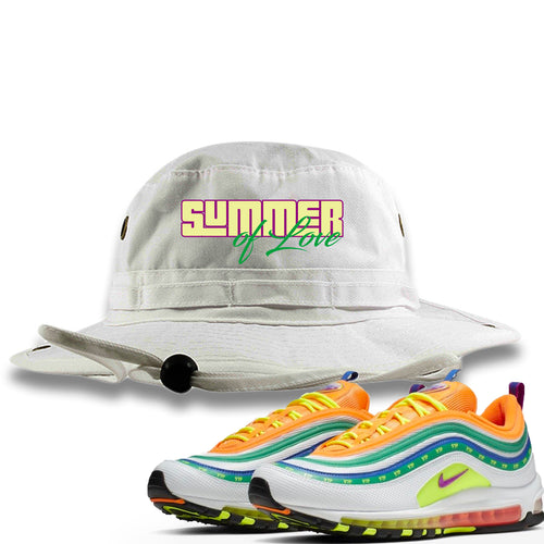 "Air Max 97 Summer of Love Sneaker Match ""Summer of Love"" White Bucket Hat"