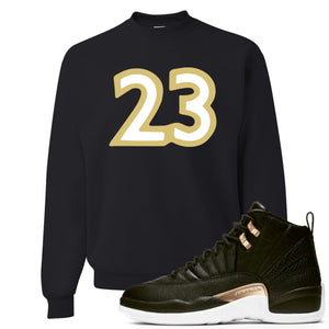"Jordan 12 WMNS Reptile Sneaker Hook Up ""23"" Black Sweater"