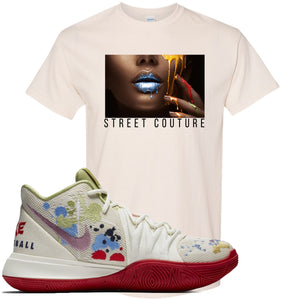Bandulu x Nike Kyrie 5 Sneaker Hook Up Street Couture Natural T-Shirt