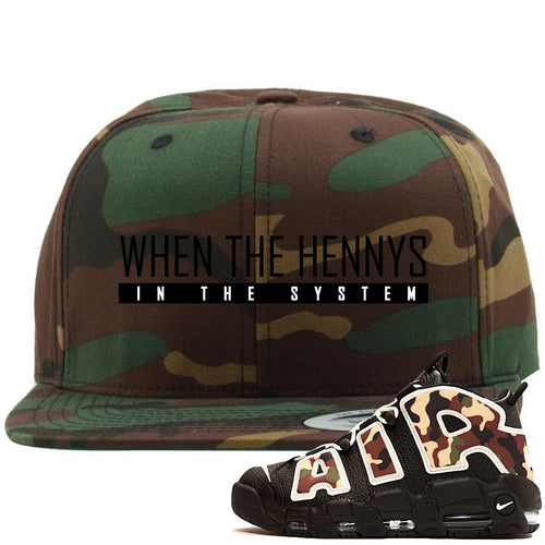 Nike Air More Uptempo Camo Sneaker Match When The Hennys In The Sytem Camouflage Snapback