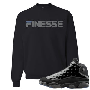 Air Jordan 13 Cap and Gown Sneaker Hook Up Finesse Black Sweater