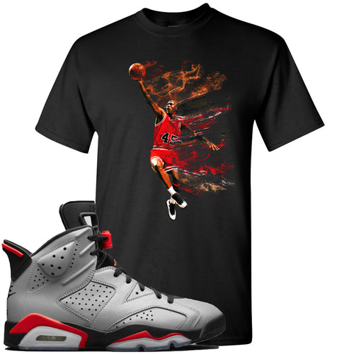 Air Jordan 6 Reflections of a Champion Sneaker Match Jordan Dunking Black T-Shirt