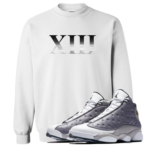 Jordan 13 Atmosphere Grey XIII White Crewneck