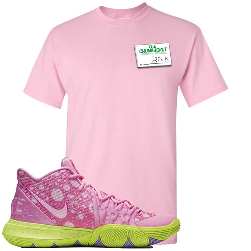 Spongebob Squarepants x Nike Kyrie 5 Patrick Star Sneaker Match Rick Light Pink T-Shirt