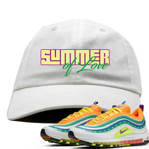 "Air Max 97 Summer of Love Sneaker Hook Up ""Summer of Love"" White Dad Hat"