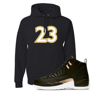 "Jordan 12 WMNS Reptile Sneaker Hook Up ""23"" Black Hoodie"