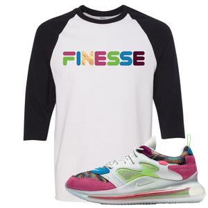OBJ x Nike Air Max 720 Sneaker Hook Up Finesse White and Black Raglan T-Shirt