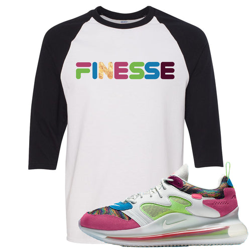 OBJ x Nike Air Max 720 Sneaker Match Finesse White and Black Raglan T-Shirt