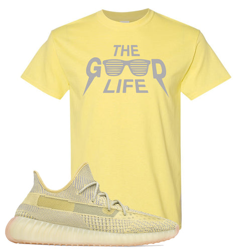 Adidas Yeezy Boost 350 V2 Antlia Sneaker Match The Good Life Cornsilk Yellow T-Shirt