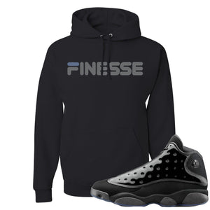 Air Jordan 13 Cap and Gown Sneaker Hook Up Finesse Black Hoodie