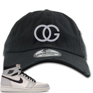 This black and grey hat will match great with your Nike SB x Air Jordan 1 Retro High OG Light Bone shoes