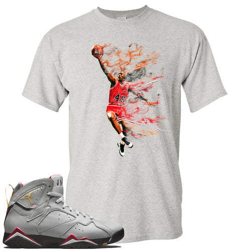 Air Jordan 7 Reflections of a Champion Sneaker Match Jordan Dunking Sports Gray T-Shirt