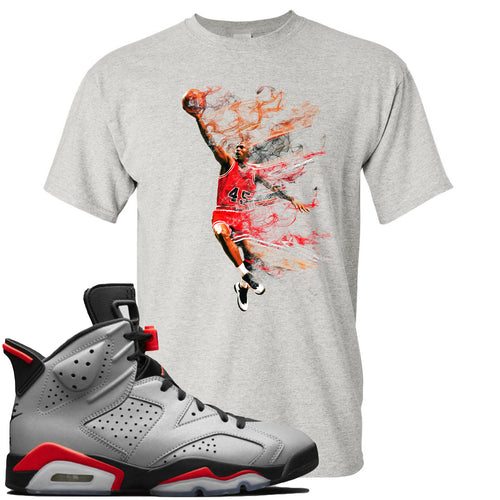 Air Jordan 6 Reflections of a Champion Sneaker Match Jordan Dunking Sports Gray T-Shirt