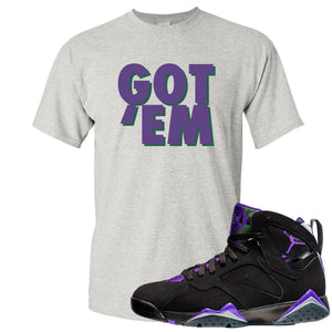 Air Jordan 7 Ray Allen Sneaker Hook Up Got Em Gray T-Shirt