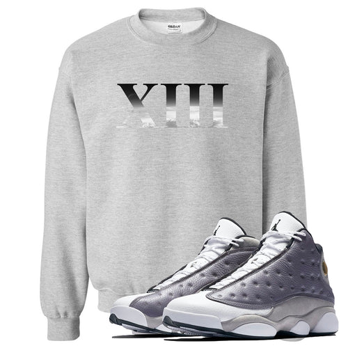 Jordan 13 Atmosphere Grey XIII Light Gray Crewneck