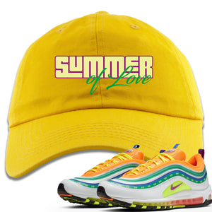 "Air Max 97 Summer of Love Sneaker Hook Up ""Summer of Love"" Yellow Dad Hat"