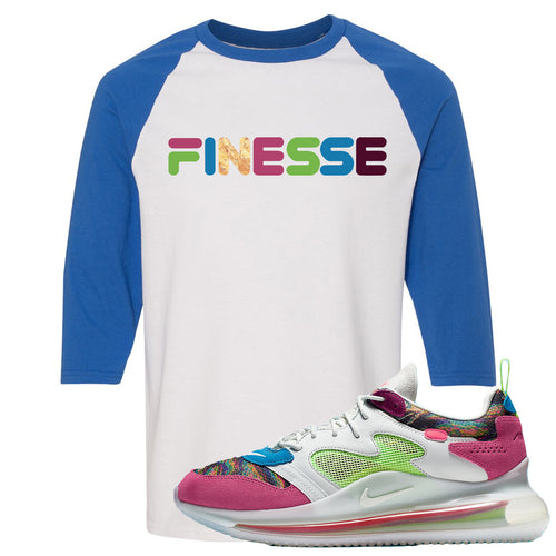 OBJ x Nike Air Max 720 Sneaker Match Finesse White and Blue Raglan T-Shirt