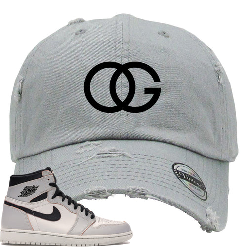 This grey and black hat will match great with your Nike SB x Air Jordan 1 Retro High OG Light Bone shoes