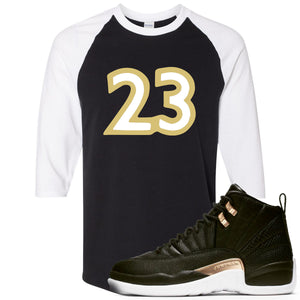 "Jordan 12 WMNS Reptile Sneaker Hook Up ""23"" Black and White Ragalan T-Shirt"