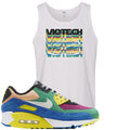 Nike Air Max 90 Viotech 2.0 Sneaker Hook Up Viotech White Mens Tank Top