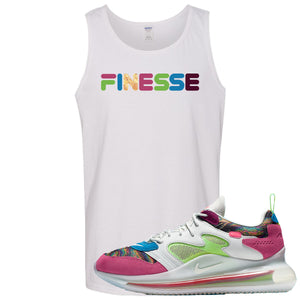 OBJ x Nike Air Max 720 Sneaker Hook Up Finesse White Mens Tank Top