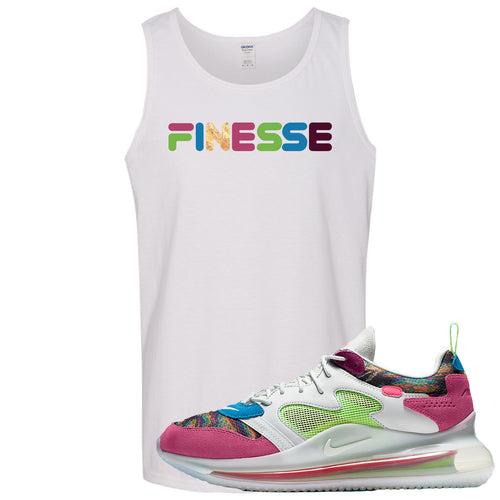 OBJ x Nike Air Max 720 Sneaker Match Finesse White Mens Tank Top