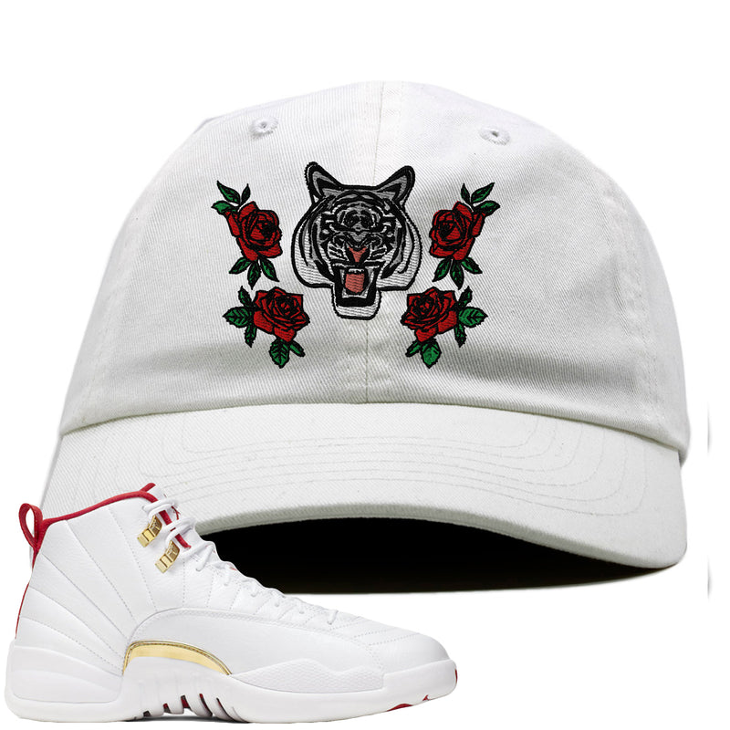Air Jordan 12 FIBA Sneaker Hook Up Rose Tiger white Dad Hat