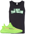 Yeezy Boost 350 V2 Glow Sneaker Match I Got The Glow Black Mens Tank Top